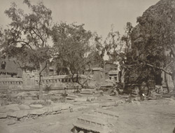 Kashmir. Enclosure, (once a Hindu Temple) of Zein-ul-ab-ud-din's Tomb, in Srinagar. Probable date A.D. 400 to 500 (?)